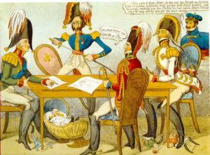 Caricature anglaise sur le congrès de Vérone