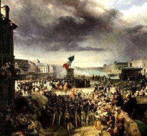 La Garde nationale de Paris part pour l'armée. Septembre 1792